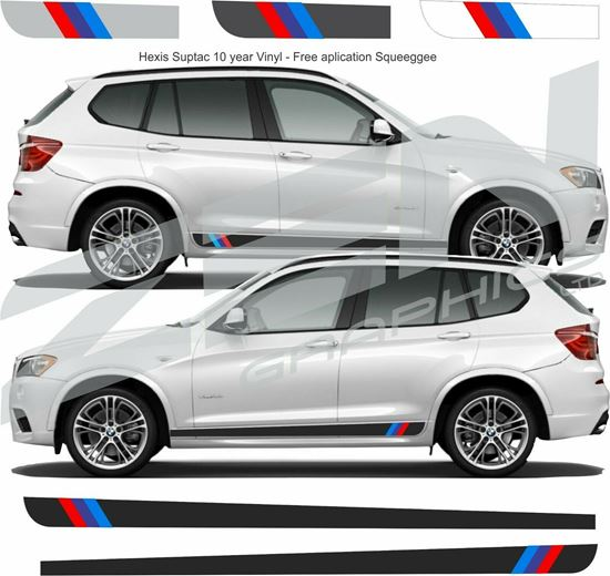 "Picture of BMW X3 ""M sport"" side Stripes / Stickers"