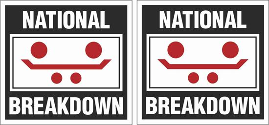 "Picture of ""National Breakdown"" Glass Decals / Stickers"
