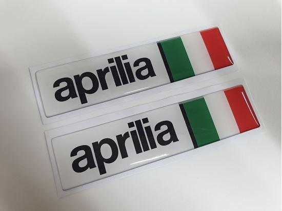 """Picture of """"aprilia""""  Italia exterior adhesive Badges"""