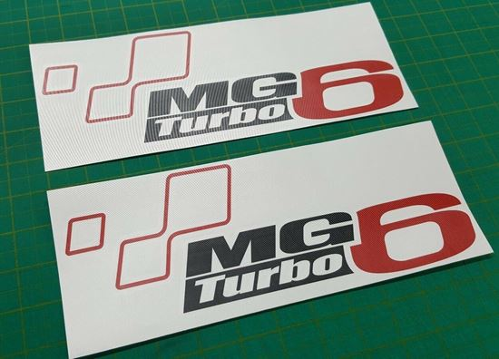 Picture of MG6 Turbo Decals Stickers