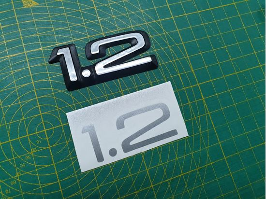 Picture of Vauxhall Nova 1.2 rear Badge overlay  Decal / Sticker