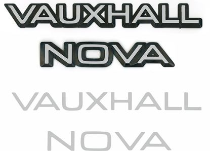 Picture of Vauxhall  Nova rear Badge restoration overlay Decals / Stickers