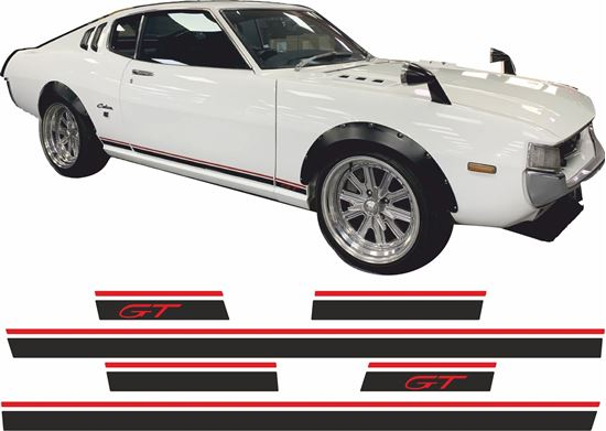 Picture of Toyota Celica GT 1972 - 1977 side Stripes / Stickers