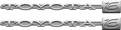 Picture of Toyota Celica RA25 Boot  Decals / Stickers