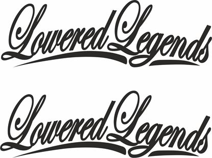 Picture of Lowered Legends panel / Glass Decals / Stickers