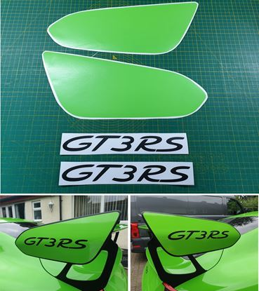 Picture of 991 GT3 RS Gen 2 Weissach wing Decals / Stickers LIZARD GREEN