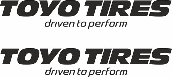 """Picture of """"Toyo Tires"""" Decals / Stickers"""