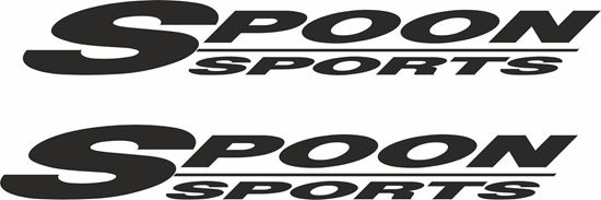 """Picture of """"Spoon Sports""""Decals / Stickers"""
