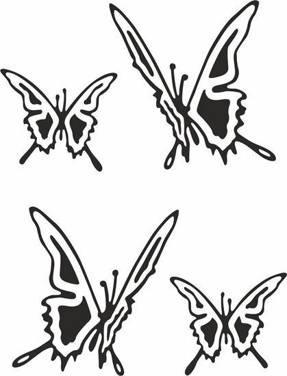 Picture of Fiat  500 Butterflies Stickers / Decals