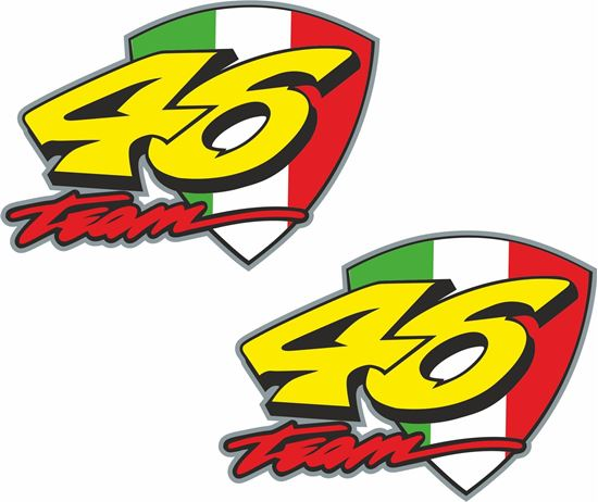 """Picture of """"46 Team"""" Valention Rossi  Decals / Stickers"""