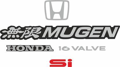 Picture of Honda CRX Si EE8 1988 - 1991 replacement rear Decals / Stickers