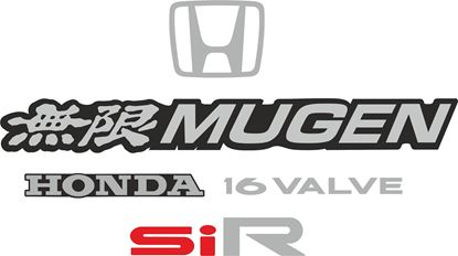 Picture of Honda CRX SiR EE8 1988 - 1991 replacement rear Decals / Stickers