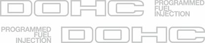 """Picture of Honda CRX  1G / Civic AG 1984 - 1987 replacement """"DOHC..""""side quarter Decals / Stickers"""