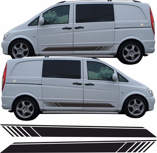 Picture of Mercedes Vito Class side Stripes / Stickers
