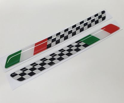 Picture of Italian chequered flag adhesive gel Badges 160mm