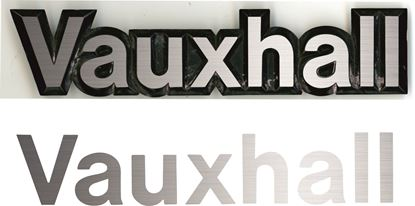 Picture of Vauxhall Astra MK1 rear Badge overlay Decal / Sticker