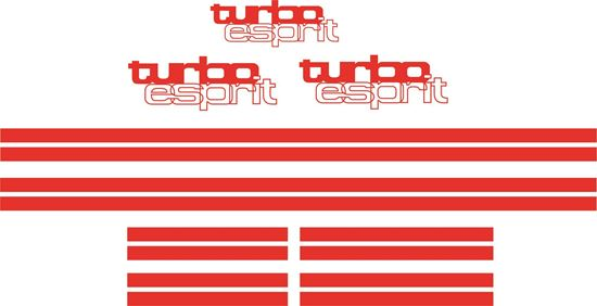 Picture of Lotus Turbo Esprit  1979-1987 replacement Decals / Stripes