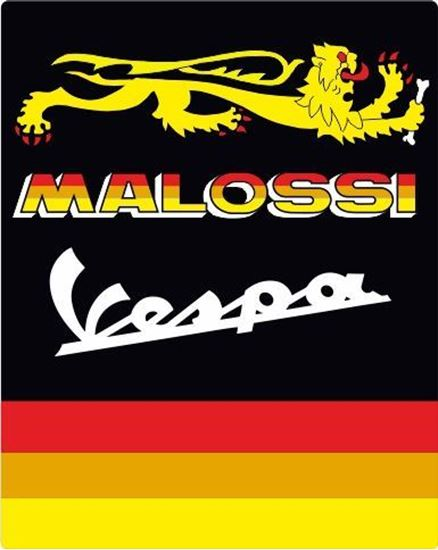 """Picture of Vespa """"Malossi"""" front Fairing Horncast insert for Badge Holder"""