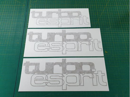 Picture of Lotus Turbo Esprit  1979-1987 replacement Decals/ Stickers