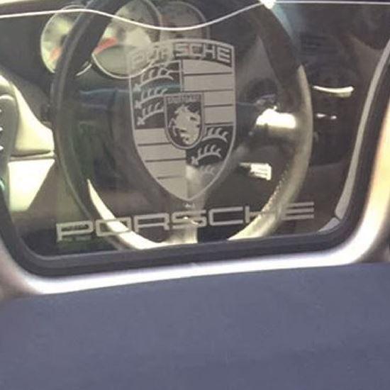 Picture of Porsche Spyder / Boxster Plexi Glass Decal / Sticker