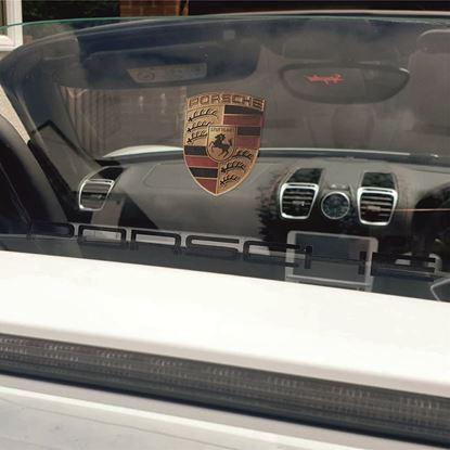 Picture of Porsche 981 Spyder Plexi Glass Decal / Sticker