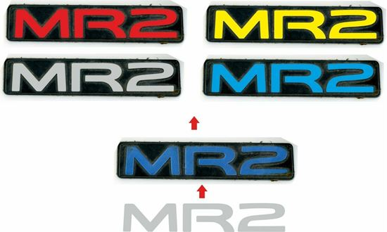 Picture of Toyota MR2 MK2 rear badge overlay Decal / Sticker