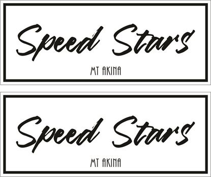 "Picture of ""Speed Stars""  Decals / Stickers"