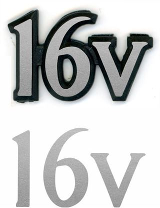Picture of Rover Metro 16v rear Badge overlay Decal / Sticker restoration
