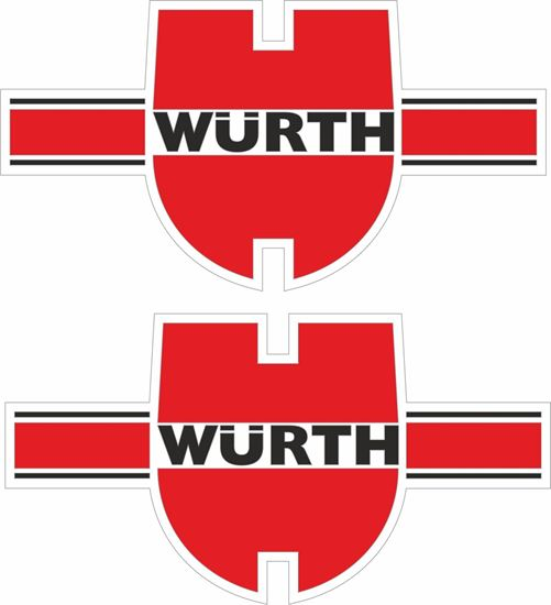 """Picture of """"Wurth""""  Decals / Stickers"""