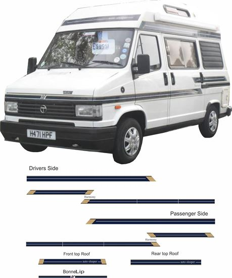 Picture of Talbot Express Auto Sleeper Harmony / Rambler  Decals  / Stickers full kit