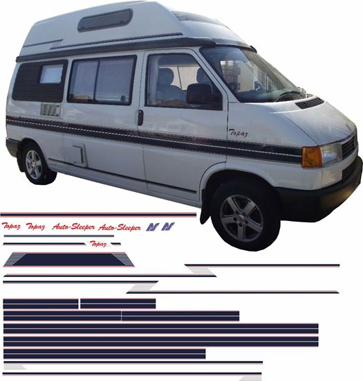Picture of VW T4  Auto sleeper Topaz  restoration Stripes / Decals  full kit