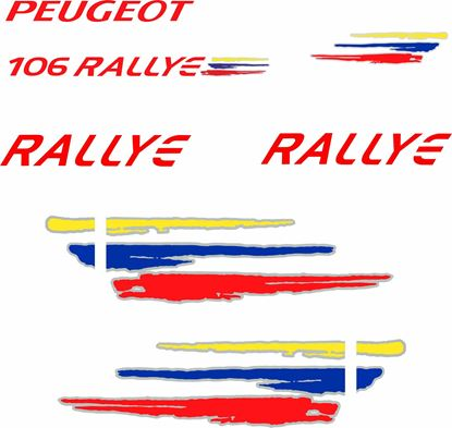 Picture of Peugeot 106 Rallye S2 replacement Decals / Stickers
