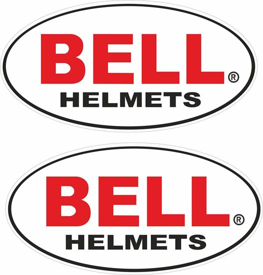 """Picture of """"Bell Helmets Track and street race sponsor Decals / Stickers"""