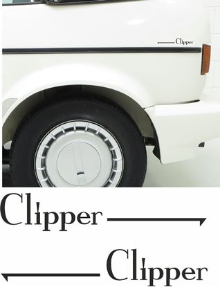Picture of Golf  MK1 Clipper side quarter replacement Decals / Stickers