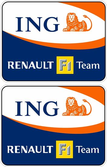 """Picture of """"Renault F1 Team ING"""" Decals / Stickers"""