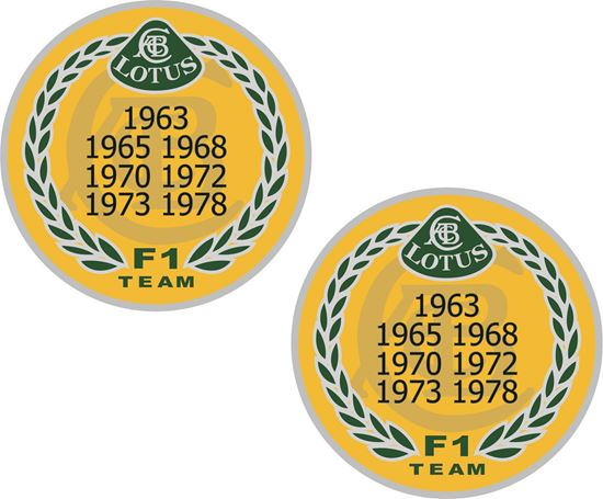 Picture of Lotus F1 Decals / Stickers -