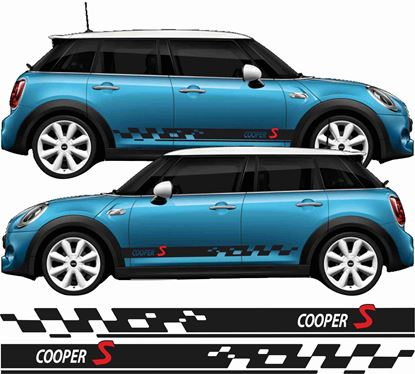 Picture of Mini F55 5 Door Cooper S side Stripes / Stickers