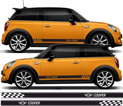 Picture of Mini Hatchback Cooper side Stripes Decals / Stickers