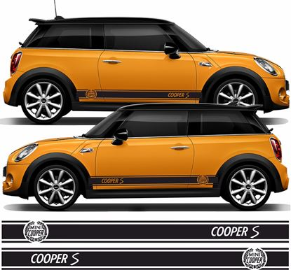 Picture of Mini Hatchback Cooper S side Stripes / Sickers
