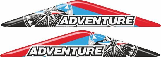"""Picture of BMW GS """"Adventure"""" 110mm Adhesive Gel Badges"""