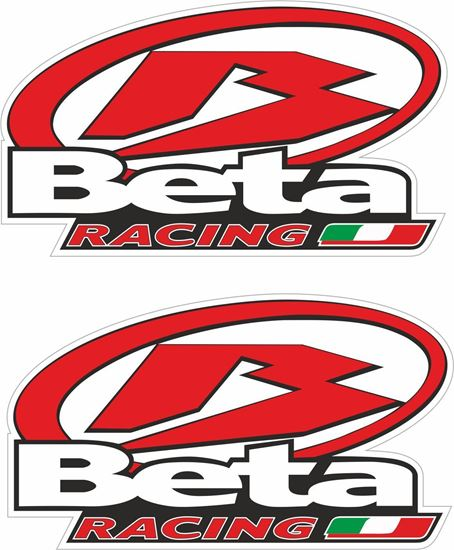 """Picture of """"Beta Racing"""" Track and street race sponsor Decals / Stickers"""