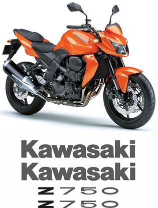 Picture of Kawasaki Z750 2007 Replacement Decals / Stickers