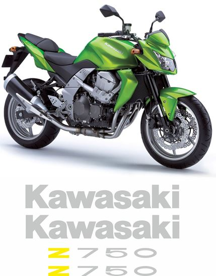 Picture of Kawasaki Z750 2012 Replacement Decals / Stickers