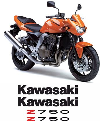Picture of Kawasaki Z750 2006 Replacement Decals / Stickers