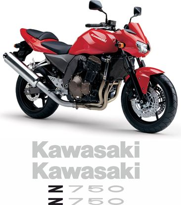 Picture of Kawasaki Z750 2004 Replacement Decals / Stickers