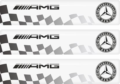 Picture of Mercedes AMG adhesive Badges 90mm