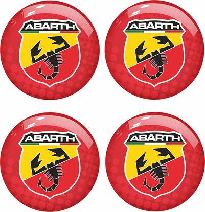 Picture of Fiat 500 / 595 Abarth wheel centre cap Badges PICK YOUR SIZE