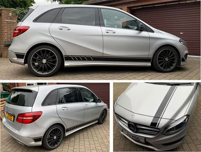 Picture of Mercedes B Class  AMG Side & Bonnet Stripes / Stickers