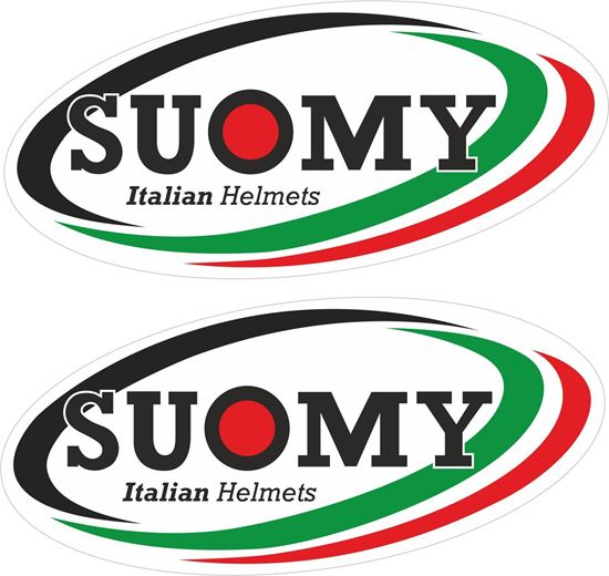 """Picture of """"Suomy""""  Track and street race sponsor Decals / Stickers"""