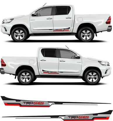 "Picture of Toyota Hilux MK6 / 7 / 8 ""TRD 4x4"" side Stripes / Stickers"